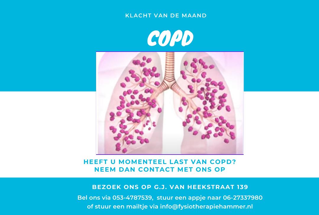 picto klacht v.d. maand - COPD